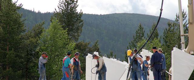 Viime vuosikymmeninä Kittilässä on investoitu runsaasti rakentamiseen.